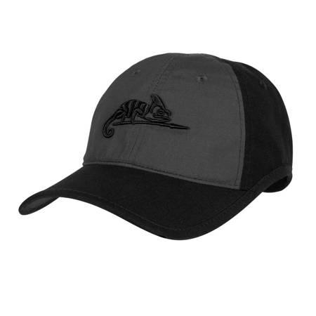 Czapka Logo Cap - Czarny / Shadow Grey - Helikon-Tex