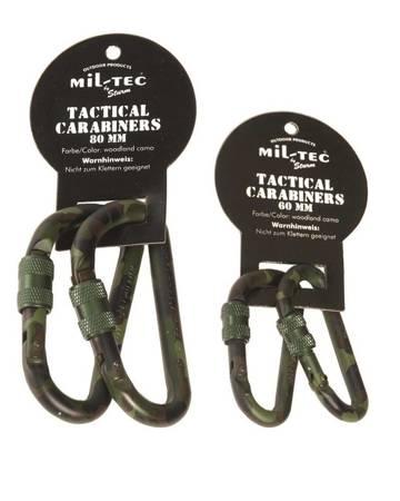 Karabinek Aluminiowy - Lock - 60 mm - Mil-Tec